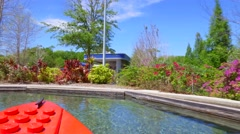 Boating school at Legoland Florida Stock Footage