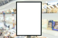 Blank sign with copy space for your text message in modern shopping mall. Stock Photos