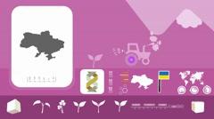 Ukraine - Agriculture - Vector Animation - purple - stock footage