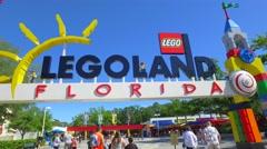 Legoland Florida Stock Footage