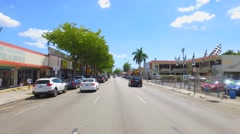 SW 8th Street driving with car mounted camera - stock footage