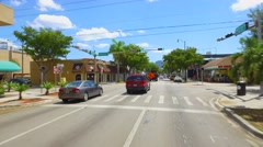 Eastbound on SW 8th Street Miami Calle Ocho Stock Footage