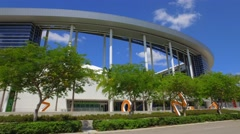 Driving by the Marlins Park 4k video Stock Footage