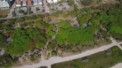 Miami Beach aerial Northshore open space park - stock footage
