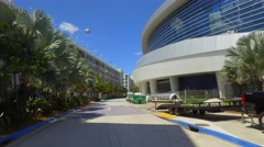Loading area Marlins Park motion video Stock Footage