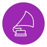 Gramophone line icon Stock Illustration