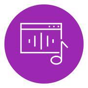 Radio line icon - stock illustration