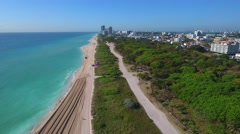 Aerial miami beach phantom 4 drone Stock Footage