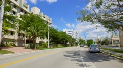 Old and new construction Miami Beach Stock Footage