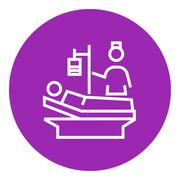 Nursing care line icon Stock Illustration