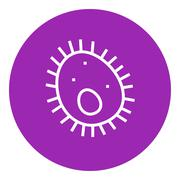 Bacteria line icon Stock Illustration