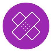 Adhesive bandages line icon Stock Illustration