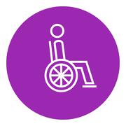 Disabled person line icon Piirros