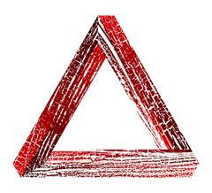 Fantastic triangle Stock Illustration