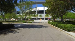 Arriving at Marlins Park 4k - stock footage