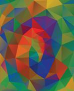 Multicolor Geometric Background - stock illustration