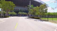 Arriving at Marlins Park 4k video - stock footage