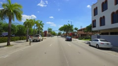 Driving Miami 8th Street Stock Footage