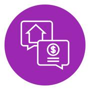 Real estate transaction line icon - stock illustration