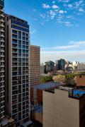 Overview of Haymarket apartments - stock photo