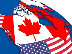 Canada on political map Stock Illustration