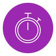 Stopwatch line icon - stock illustration