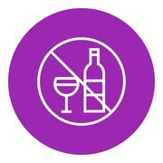 No alcohol sign line icon Stock Illustration
