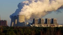 The modern power plant Boxberg Stock Footage