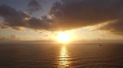 JAFFA, ISRAEL (4K) - Beautiful aerial view sunset over Mediterranean Sea Stock Footage