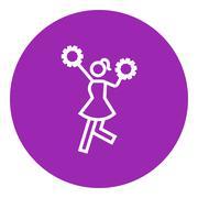 Stock Illustration of Cheerleader line icon
