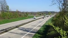 Timelaps A3 motorway - stock footage