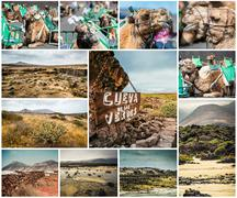 picturesque views and sights of Lanzarote in Canary islands - stock photo