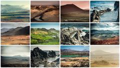 Rocky coast in Lanzarote Stock Photos