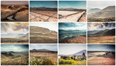 mountain roads, views and sights of Lanzarote - stock photo