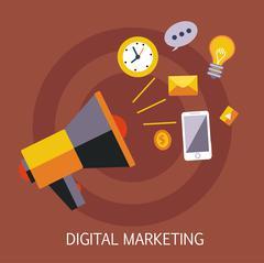 Digital Marketing Concept Art Stock Illustration