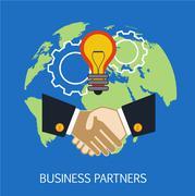 Business Partners Concept Art - stock illustration