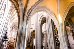 St. Elisabeth Cathedral in Kosice inside Stock Photos