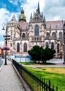 Picturesque view on majestic St. Elisabeth Cathedral Stock Photos