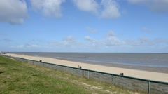 The beach at Cuxhaven coste line Stock Footage