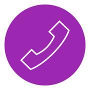 Receiver line icon - stock illustration