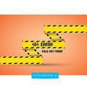 Creative page not found, 404 error - stock illustration