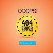Creative page not found, 404 error Stock Illustration