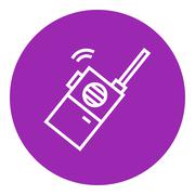 Stock Illustration of Portable radio set line icon