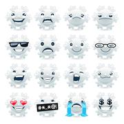 Funny Snowflake Emojis Stock Illustration