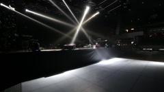 Empty dance floor with light on - stock footage