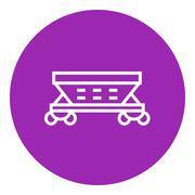 Cargo wagon line icon Stock Illustration