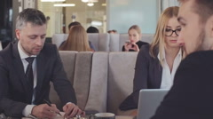 Informal Meeting in the Cafe Stock Footage