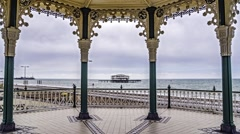 Time lapse view of the Victorian bandstand in Brighton Stock Footage