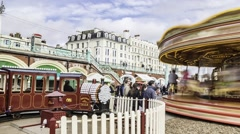 Time lapse of a merry go round - stock footage