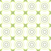 Seamless Colorful Pattern Created from Circles and stars Stock Illustration